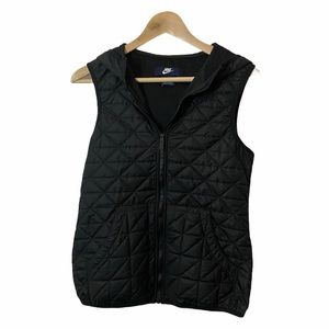 Nike quilted vest with hood